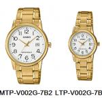 นาฬิกา คาสิโอ Casio SETคู่รัก รุ่น MTP-V002G-7B2+LTP-V002G-7B2 ของแท้ รับประกัน 1 ปี