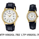 นาฬิกา คาสิโอ Casio SETคู่รัก รุ่น MTP-V002GL-7B2+LTP-V002GL-7B2 ของแท้ รับประกัน 1 ปี