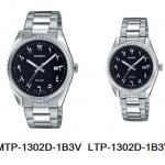 นาฬิกา คาสิโอ Casio SETคู่รัก รุ่น MTP-1302D-1B3V+LTP-1302D-1B3V ของแท้ รับประกัน 1 ปี