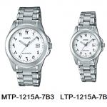 นาฬิกา คาสิโอ Casio SETคู่รัก รุ่น MTP-1215A-7B3+LTP-1215A-7B3 ของแท้ รับประกัน 1 ปี