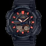 """นาฬิกา Casio 10 YEAR BATTERY AEQ-110 series รุ่น AEQ-110W-1A2V """"Black & Rose Gold"""" ของแท้ รับประกัน 1 ปี"""