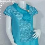 ชุดผ้าไหมญี่ปุ่นคอปกแก้ว XXL D005-3