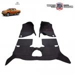 พรมเข้ารูป 6 D Leather Car Mat จำนวน 3 ชิ้น NISSAN NAVARA NP300 4 DOOR