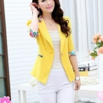 พรีออเดอร์ เสื้อสูท Blazer สีเหลือง มีไซด์ M/L/XL/XXL/XXXL