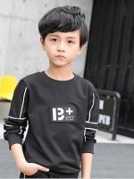 C127-70 เสื้อกันหนาวเด็ก สีดำ ซับขนกำมะหยี่ ผ้านิ่ม สวย ใส่อุ่น size 120-170