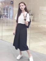 กางเกงขากว้าง ยาว สีดำ