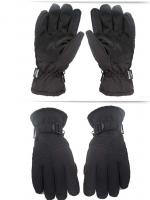 GF115-50 ถุงมือกันหนาวกันหิมะ สีดำ sizeใหญ่ สำหรับผู้ใหญ่ บุผ้าสำลีนุ่มด้านใน มีเข็มขัดล็อคข้อมือ สวยใส่อุ่นสบาย
