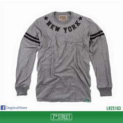 เสื้อยืดแขนยาว 7TH STREET - รุ่น New York Star | Top Dry Grey