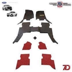 พรมเข้ารูป 7 D Anti Dust รถรุ่น FORD RANGER 4 Door ปี 2012-2018 จำนวน 3+4 ชิ้น