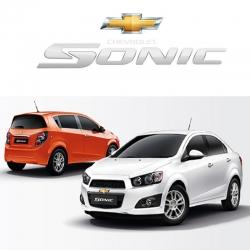 พรมดักฝุ่นไวนิล รถ Chevrolet Sonic 4-5 Door 2012-2017 ชุด Full จำนวน 15 ชิ้น