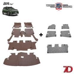 พรมรถยนต์ 7 D Anti Dust รถ HONDA BRV 7 ที่นั่ง 2016-2021