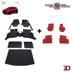 พรมรถยนต์ 7 D Anti Dust รถ MAZDA CX-3 ปี 2015-2019 ชุดเต็มคัน จำนวน 6+4 ชิ้น