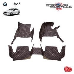 พรมรถยนต์ 6 D รถ BMW Serie 5 รหัสตัวถัง F10 ปี 2010-2018 จำนวน 3 ชิ้น