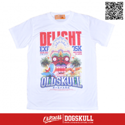 เสื้อยืด OLDSKULL : EXPRESS TROPICAL UG | WHTE XL