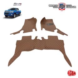 พรมเข้ารูป 6 D Leather Car Mat จำนวน 3 ชิ้น TOYOTA REVO 4 Door ปี 2015-2019