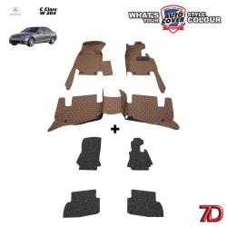 พรมรถยนต์ 7 D Anti Dust รถ MERCEDES - BENZ C CLASS (W204) จำนวน 3+4 ชิ้น
