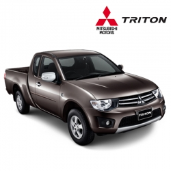 พรมดักฝุ่นไวนิล ชุด Full จำนวน 8 ชิ้น Mitsubishi Triton Cab 2006-2014