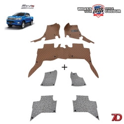 พรมรถยนต์ 7 D Anti Dust รถ TOYOTA HILUX REVO 4 DOOR ปี 2015-2019