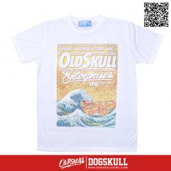 เสื้อยืด OLDSKULL : EXPRESS FIRE SEA | WHITE