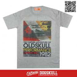 เสื้อยืด OLDSKULL : EXPRESS 38   GREY XL