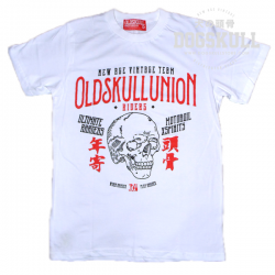 เสื้อยืด OLDSKULL: ULTIMATE #xx   สีขาว