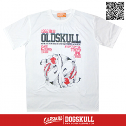 เสื้อยืด OLDSKULL : EXPRESS CARP | WHITE XL