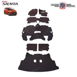 พรมรถยนต์ 6D รถ TOYOTA SIENTA โตโยต้า เซียนต้า จำนวน 7 ชิ้น