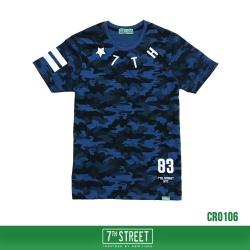เสื้อยืด 7TH STREET - CROSS BACK BLUE SOLDIER