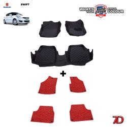 พรมรถยนต์ 7 D Anti Dust รถ SUZUKI SWIFT ปี 2012-2016 ชุดในเก๋ง จำนวน 3+4 ชิ้น
