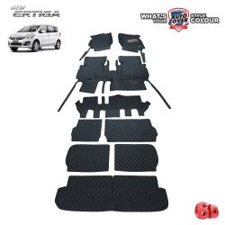 พรมรถยนต์ 6D รถ SUZUKI ERTIGA ปี 2013-2018 ชุดเต็มคัน จำนวน 9 ชิ้น