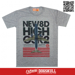 เสื้อยืด OLDSKULL: EXPRESS HD72 | TOP DRY GREY