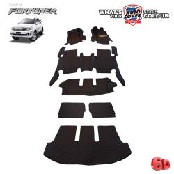 พรมรถยนต์ 6D Leather Car Mat จำนวน 7 ชิ้น TOYOTA FORTUNER ปี 2005-2015