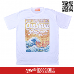 เสื้อยืด OLDSKULL : EXPRESS FIRE SEA | WHITE XL