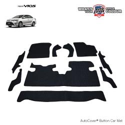 พรมกระดุม Super Save รถ Toyota Vios ปี 14-19 ชุด Full จำนวน 10 ชิ้น
