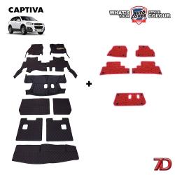 พรมรถยนต์ 7 D Anti Dust รถ CHEVROLET CAPTIVA ชุดเต็มคัน จำนวน 9+5 ชิ้น