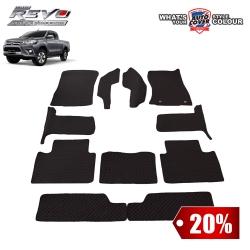 สินค้า PROMOTION!! รถ TOYOTA REVO SMARTCAB 2015-2019 เกียร์ MANUAL พรมกระดุม Super Save ชุด Full จำนวน 11 ชิ้น สีดำ