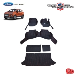 พรมเข้ารูป 6 D รถ FORD ECO SPORT ปี 2013-2018 จำนวน 6 ชิ้น รวมแผ่นท้ายและหลังพนักพิง