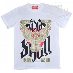 เสื้อยืด OLDSKULL: ULTIMATE #498   สีขาว