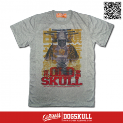 เสื้อยืด OLDSKULL EXPRESS : SAMURAI GHOST |Gray | XL