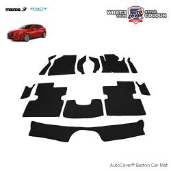 พรมกระดุม Super Save รถ MAZDA 3 Skyactiv 4-5 Door ปี 2014-2017 ชุด Full จำนวน 12 ชิ้น