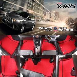 พรมดักฝุ่นไวนิล รถ Toyota Yaris 2014-2017 ชุด Full จำนวน 13 ชิ้น