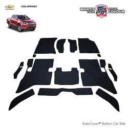พรมกระดุม Super Save รถ CHEVROLET COLORADO 4 Door ปี 2011-2016 ชุด Full จำนวน 14 ชิ้น
