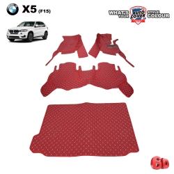 พรมรถยนต์ 6D รถ BMW X 5 ตัวถัง F15 ชุดเต็มคันรวมแผ่นท้าย จำนวน 4 ชิ้น