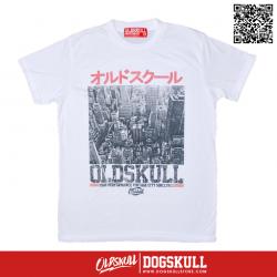 เสื้อยืด OLDSKULL : EXPRESS CITY TOWN | WHITE