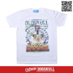 เสื้อยืด OLDSKULL : EXPRESS MILITIA FIGHTING FORCE | WHITE