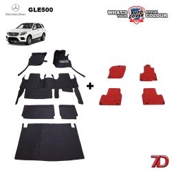 พรมรถยนต์ 7 D Anti Dust รถ MERCEDES - BENZ GLE 500e (W166) จำนวน 6+4 ชิ้น