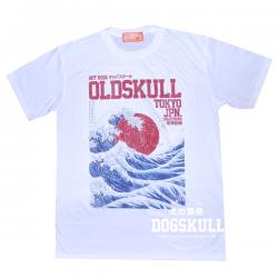 เสื้อยืด OLDSKULL : EXPRESS HD #37  White   XL