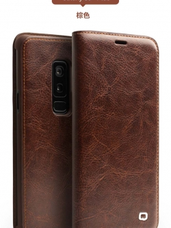 เคสหนังแท้ Samsung Galaxy S9 และ S9+ (กรุณาสอบถาม) จาก QIALINO [Pre-order]