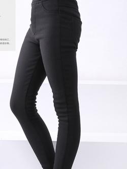 C124-32 กางเกงกันหนาวเด็กสีดำ สวย ใส่อุุ่น กันหนาวติดลบได้ -5 องศา size 120-160