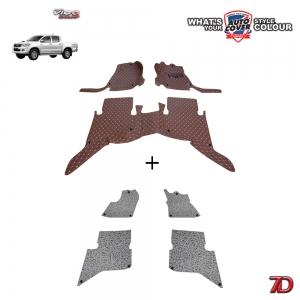 พรมรถยนต์ 7 D Anti Dust รถ TOYOTA VIGO 4 DOOR ปี 2005-2015